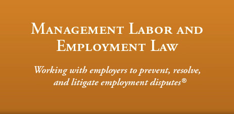 Management Labor and Employment Law